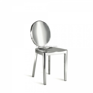 Cheap modern leisure polishing dining stainless steel Kong chair