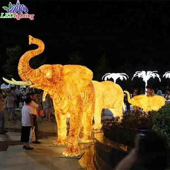 outdoor christmas decoration 3m led 3d acrylic elephant motif lights - Christmas Elephant Outdoor Decoration