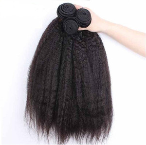 yaki straight human hair weft , peruvian hair natural color Weave Hair extension