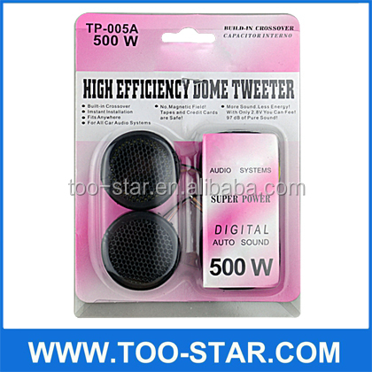 Professional Mini Loudspeaker TP-005A 500W Digital Auto Sound Dome Tweeter for Car