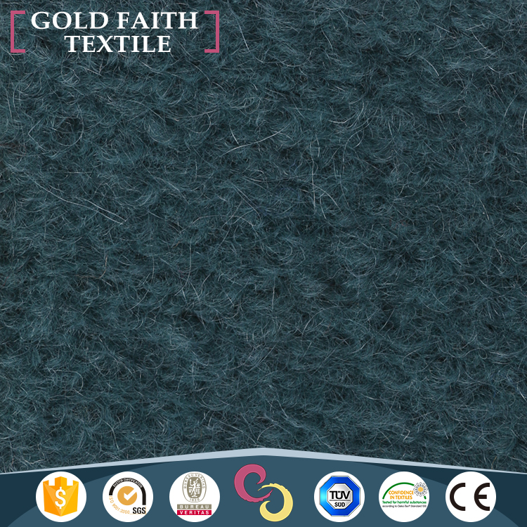 Wholesale Blue Mohair Woolen Fabric In Good Quality