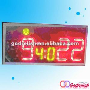 Plastic led digital scoreboard piggy bank with coin counter