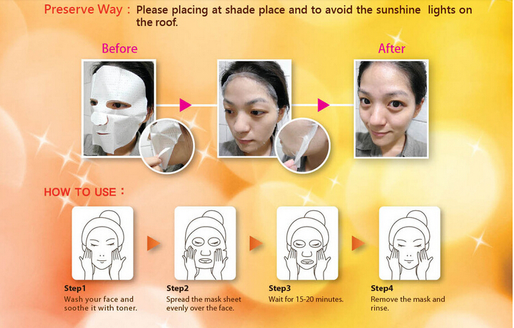 Skin Care Face Whitening Slim Placenta Collagen Silk Face Mask