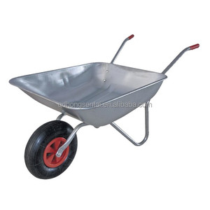 65 Litre Cheap Price WB5204 Galvanised Garden Hand Trolley wheelbarrow 65l for UK German Russia market