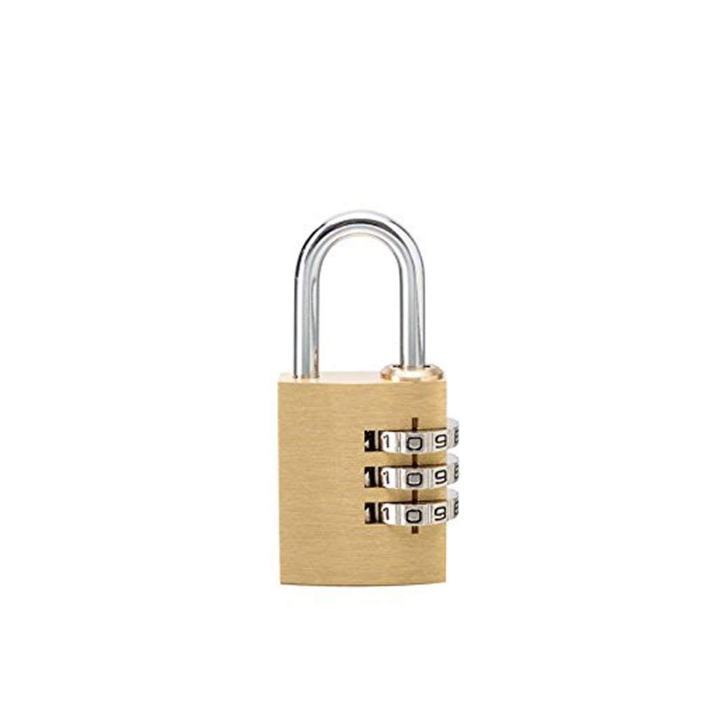Get Quotations · High-Grade Solid Brass Anti-Rust Code Lock Small Luggage  Trolley case Backpack Padlock 59e84e3267