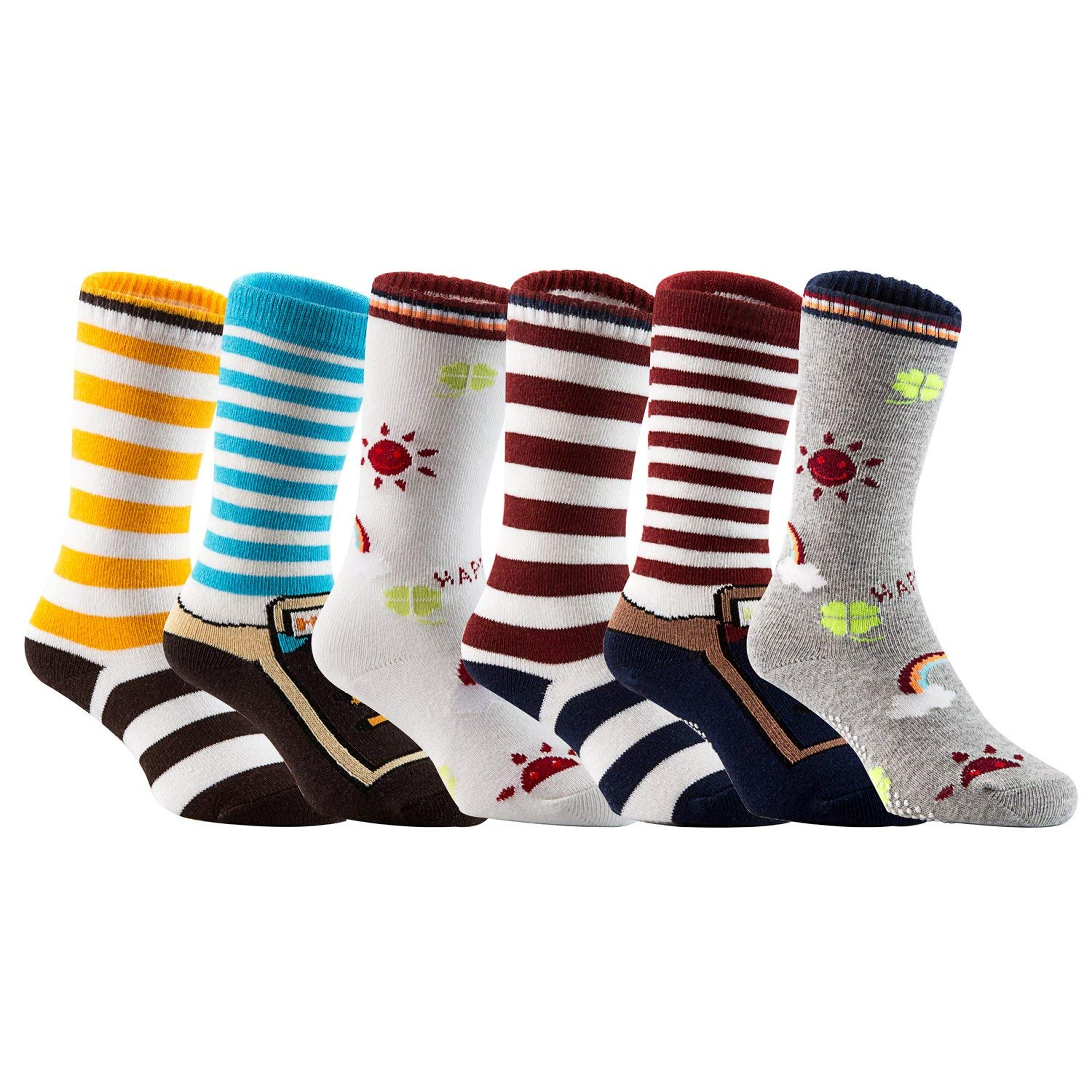 4b2870113 Get Quotations · Lian LifeStyle Baby Children 6 Pairs Knee High Non-Skid  Non-Slip Cotton Socks