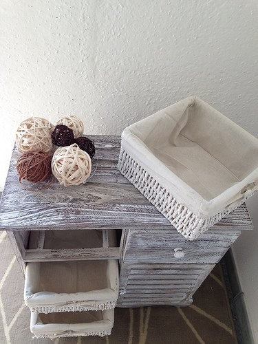Mytest2 shabby chic white grey cabinet bedside table - Gray shabby chic furniture ...