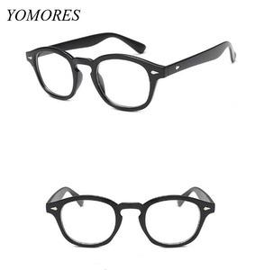 87016bfd845 YOMORES Fashion Black Optical Frames Plastic Myopia Frames Women Men Vintage  Eyeglass Outside Eyewear Frames