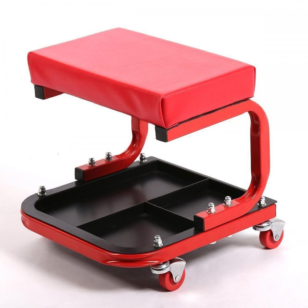 Rolling Mechanic Seat Stool Chair Tray Repair Tools Shop Auto Car Garage  SP36