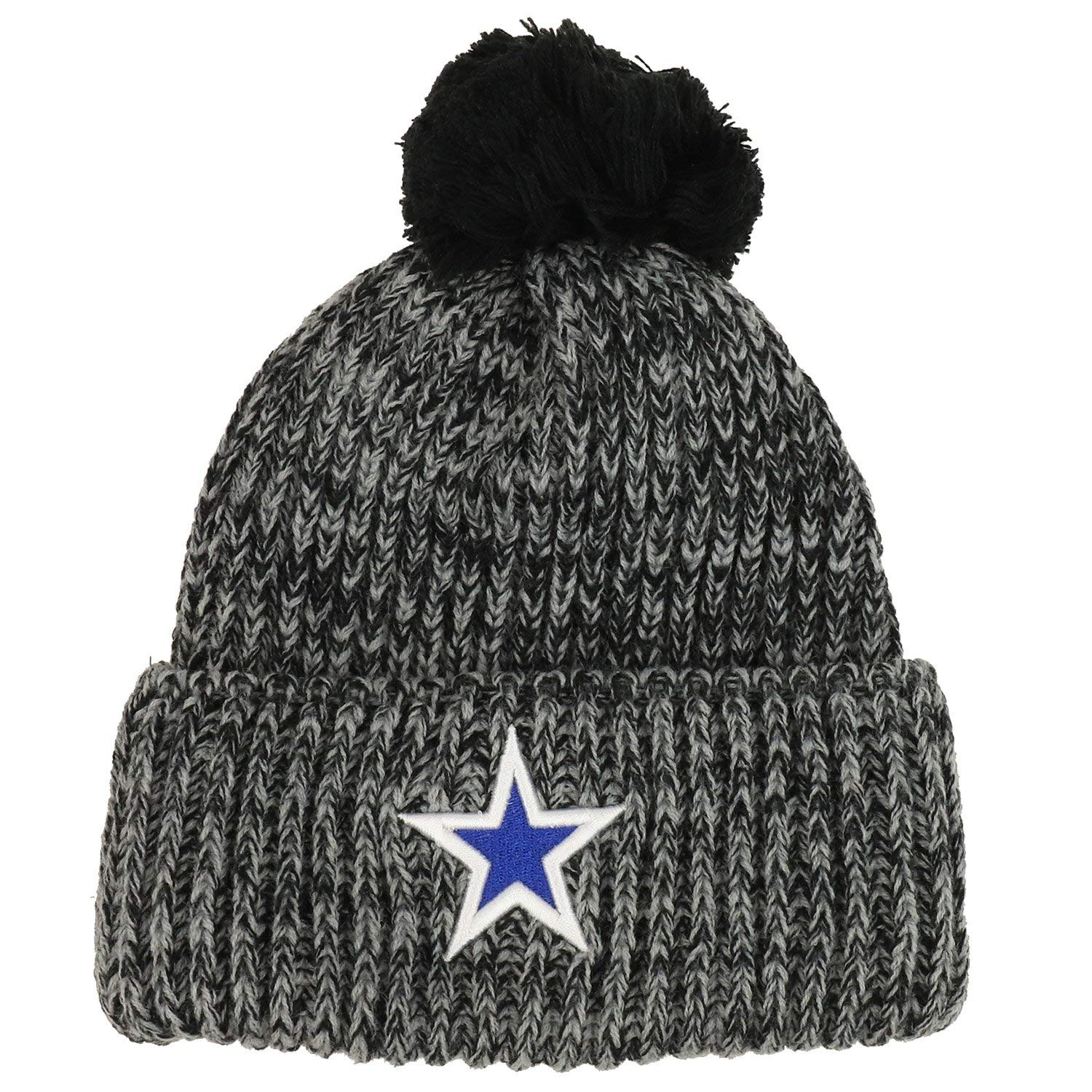 58bf0c97222fed Get Quotations · Trendy Apparel Shop Dallas Lone Star Embroidered Ribbed  Knit Pom Pom Long Cuff Beanie