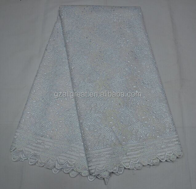 New coming high quality royal blue african voile lace fabric for garment