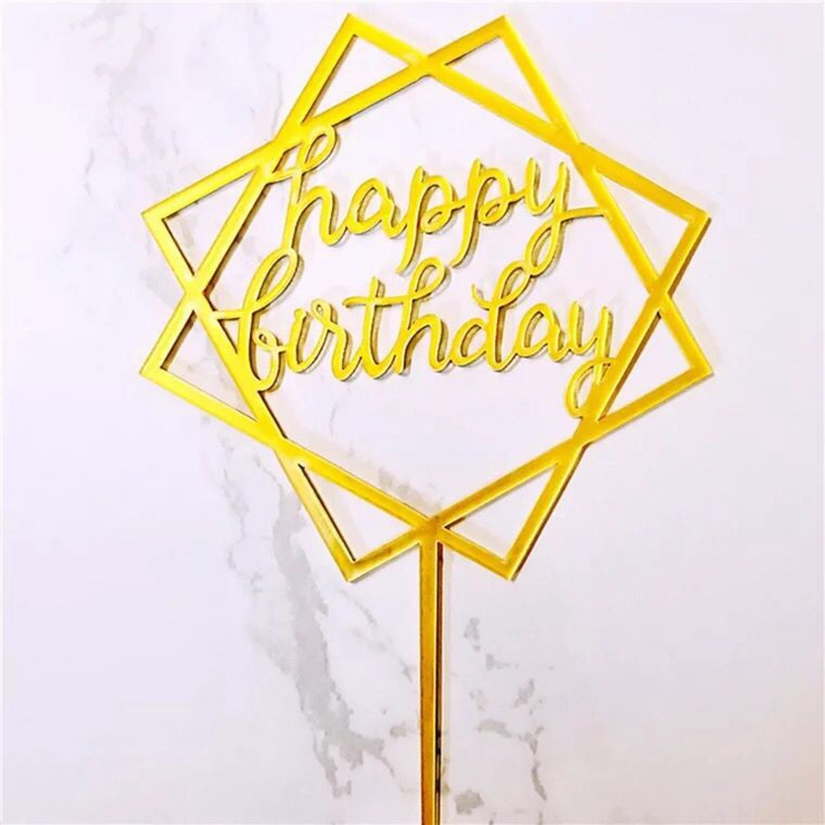 Cheap Price Custom Cake Topper Party Decoration Acrylic Cake Topper Happy Birthday