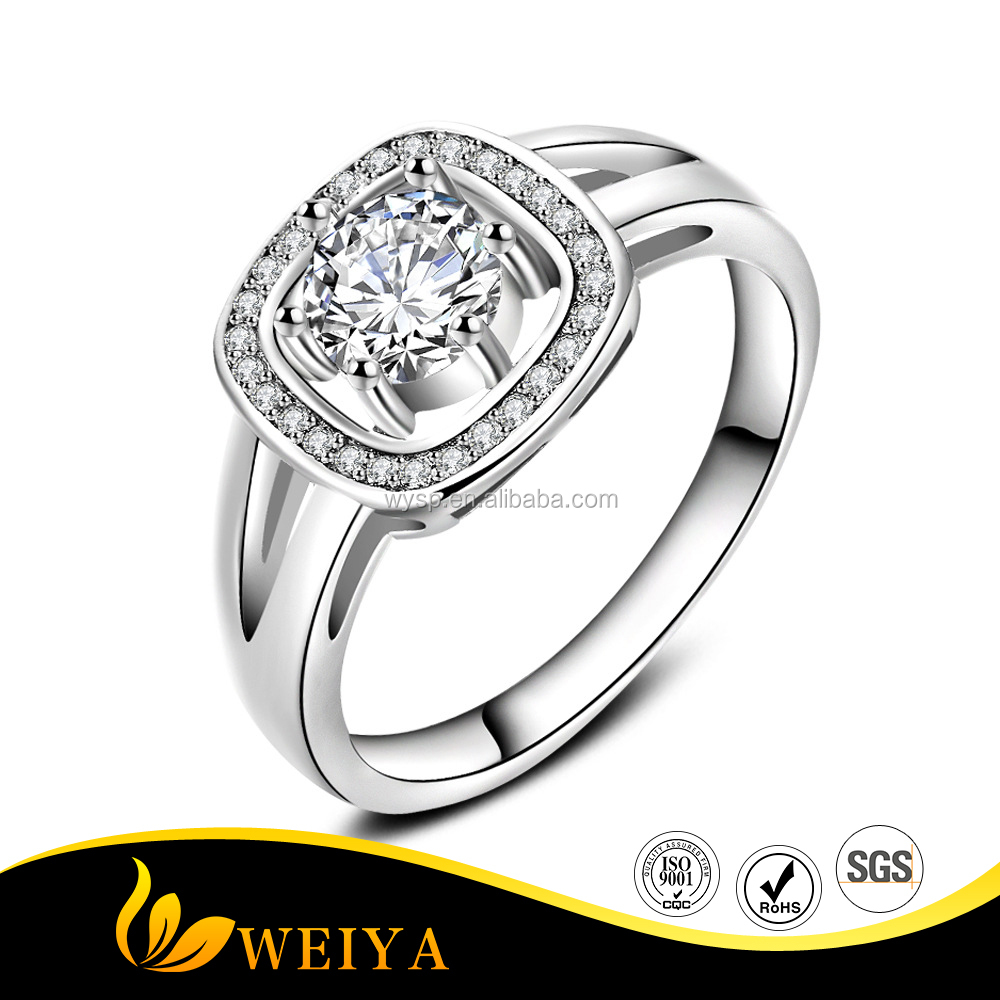 Jewlery Factory Women Ring Sets Sterling Silver Wedding Rings