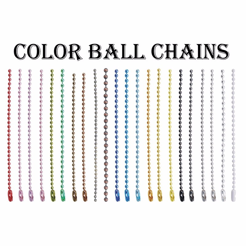 1000pcs per bag 2018 Promotional 12cm Most Popular Size 2.4mm Nickel Free Plated Copper Bead Ball Chain With Connector