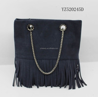 lastest style design fashion tassels handbag for office ladies