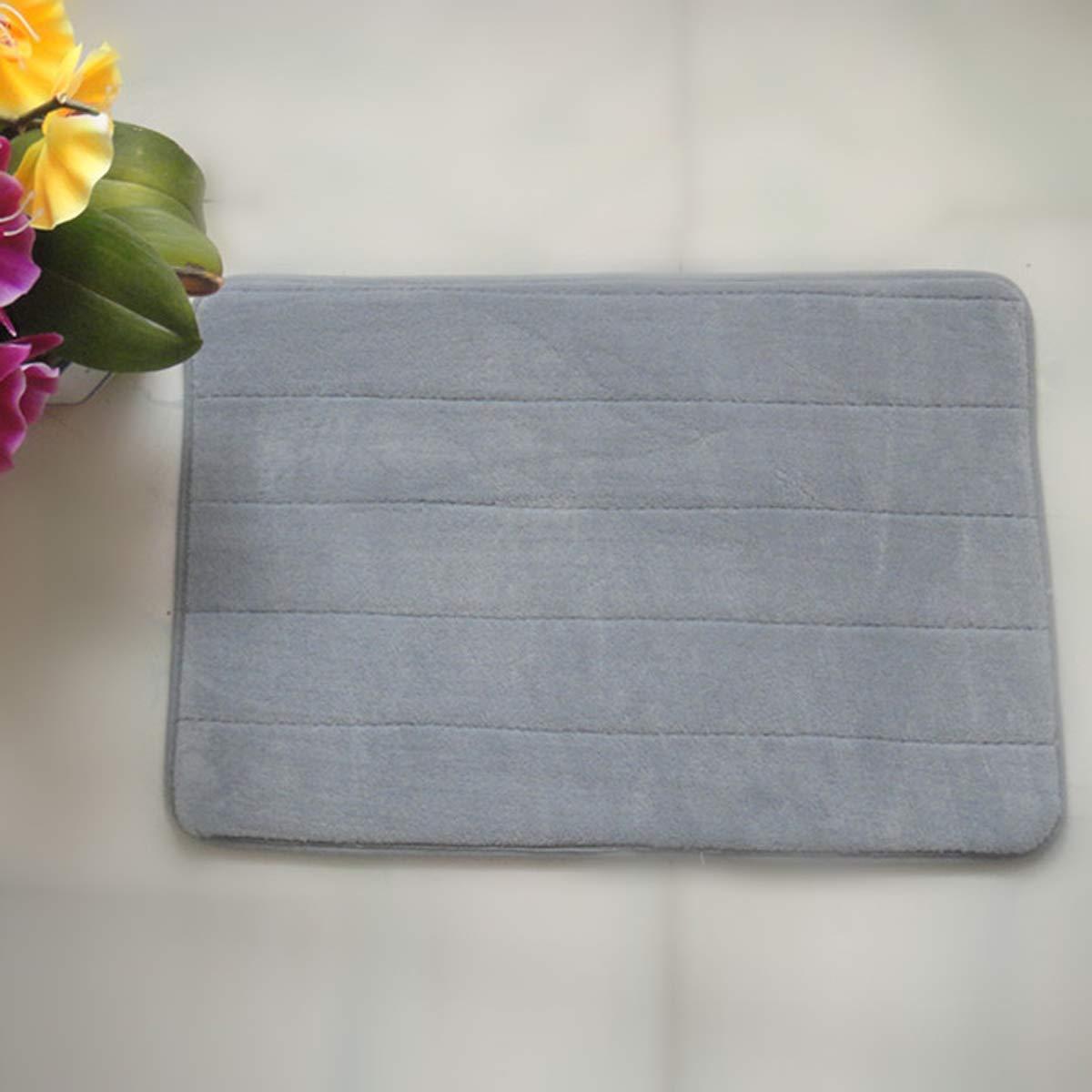VORCOOL 4060cm Rectangle Shaped Soft Memory Foam Non-Slip Bath Mat Kitchen Mat Floor Rug Mat Carpet (Silver Grey)