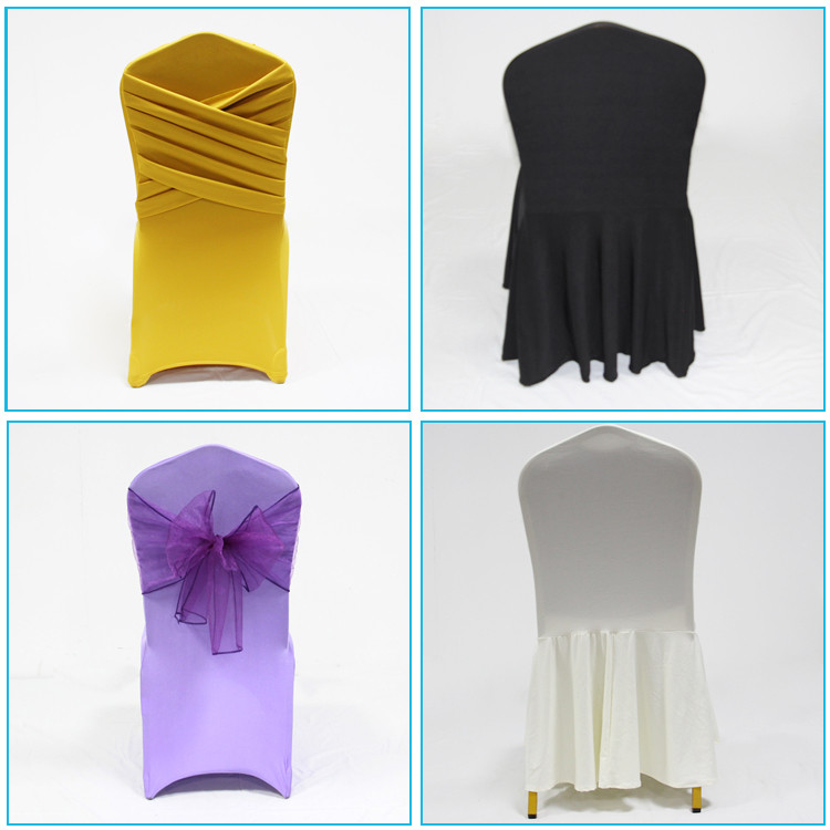 guangzhou manufacturer universal christmas wholesale cheap spandex ruffled wedding chair cover