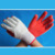oil resistant cotton knitted working gloves with soft rubber on palm
