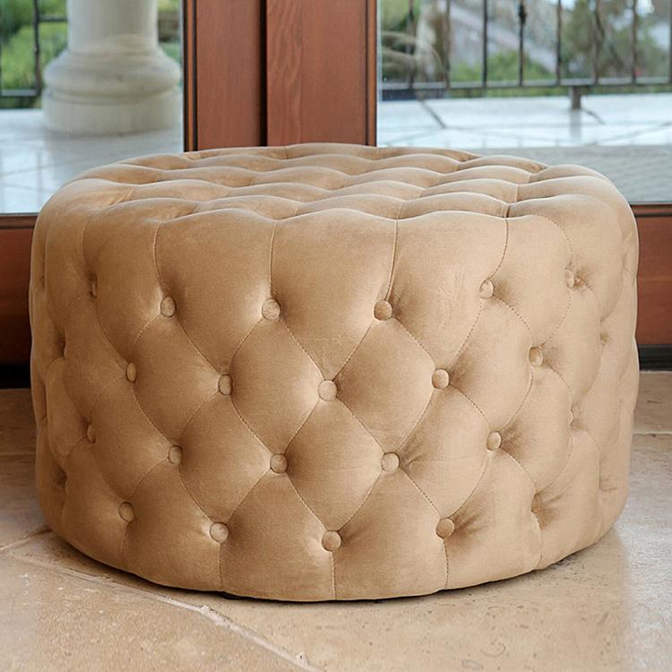 Contemporáneo copetudo redondo escabel otomana muebles de sala no ...