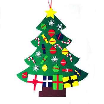 christmas craft china manufacturer magic sticker felt christmas trees decorations wall hanging - Christmas Wall Hanging Decorations