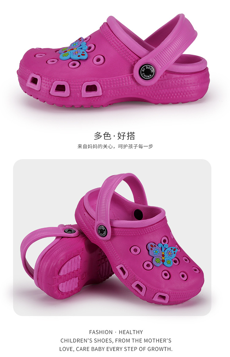 Summer EVA children slipper Waterproof breathable Hole girls nudes beach slipper