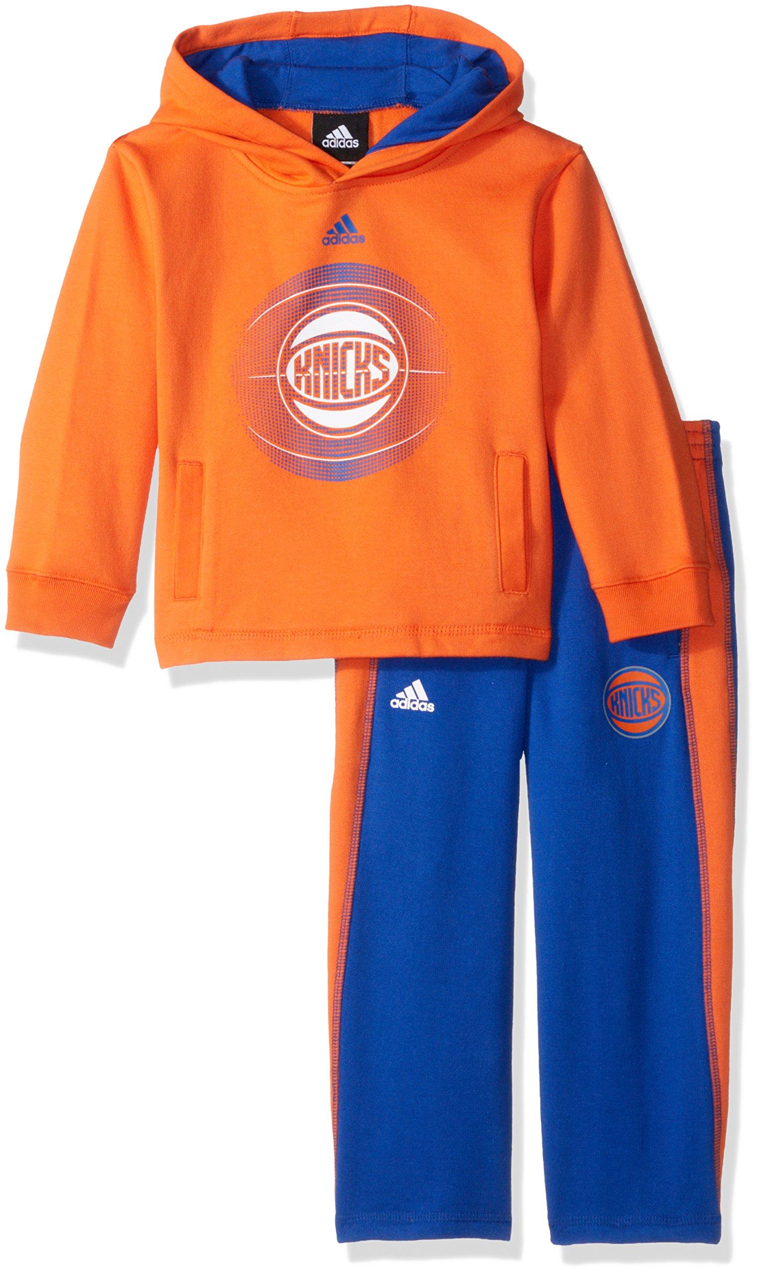 NBA Brand NBA Toddler New York Knicks Classic Fan fleece Set, 3T, Orange