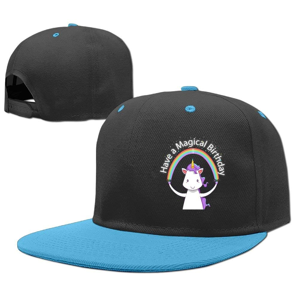 c5a7021c42e Get Quotations · Kids Have A Magical Birthday Adjustable Hip Hop Baseball  Hat Custom Cap for Children