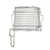 Stainless Steel BBQ Grill Basket Vertical BBQ Grill Cooking Grates For Outdoor BBQ With Easy Turn-Over Handle