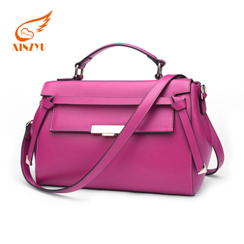 Under 200 Large Bags Women Lady Genuine Leather Custom Mei Red Color Handbags