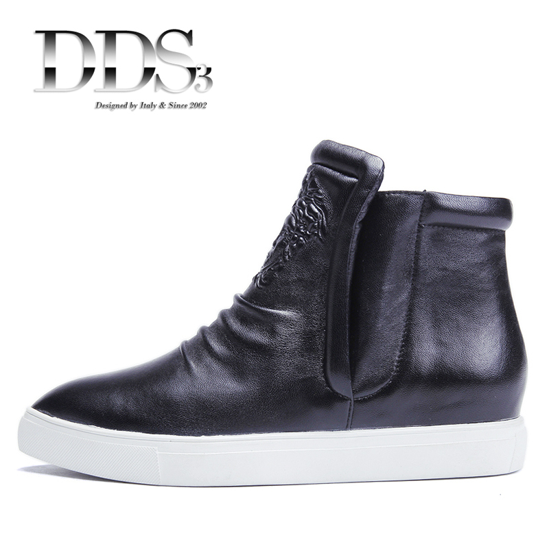 2044d798b41266 Get Quotations · DDS Versae Women Sneakers Genuine Leather High Top Wedge  Sneakers Women Ankle Boots Slip On Platform