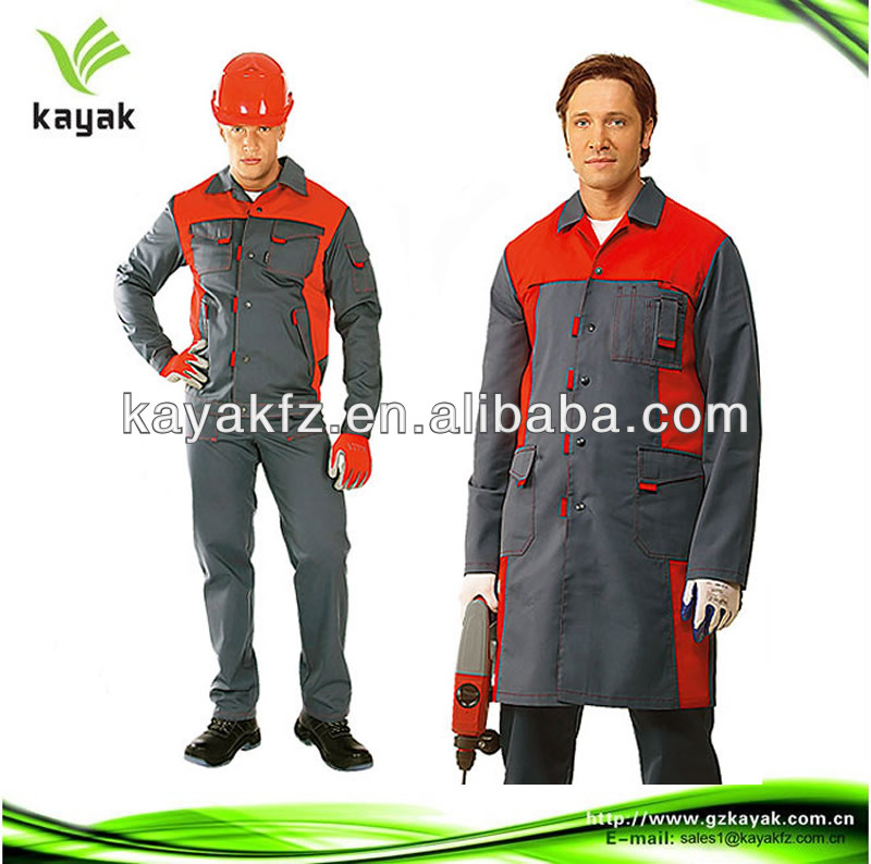 2014 factory custom design Garage Workwear Overall wholesale high quality twill workuniform for factory workers