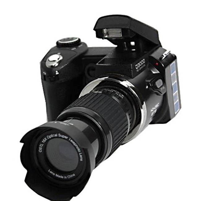 POLO D3000 16MP HD Half DSLR Professional Digital Cameras with 21x Telephoto Wide Angle Lens Cameras