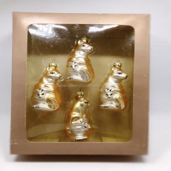 Wholesale Glass Kangaroo Glass Christmas Ornament Figurine ...