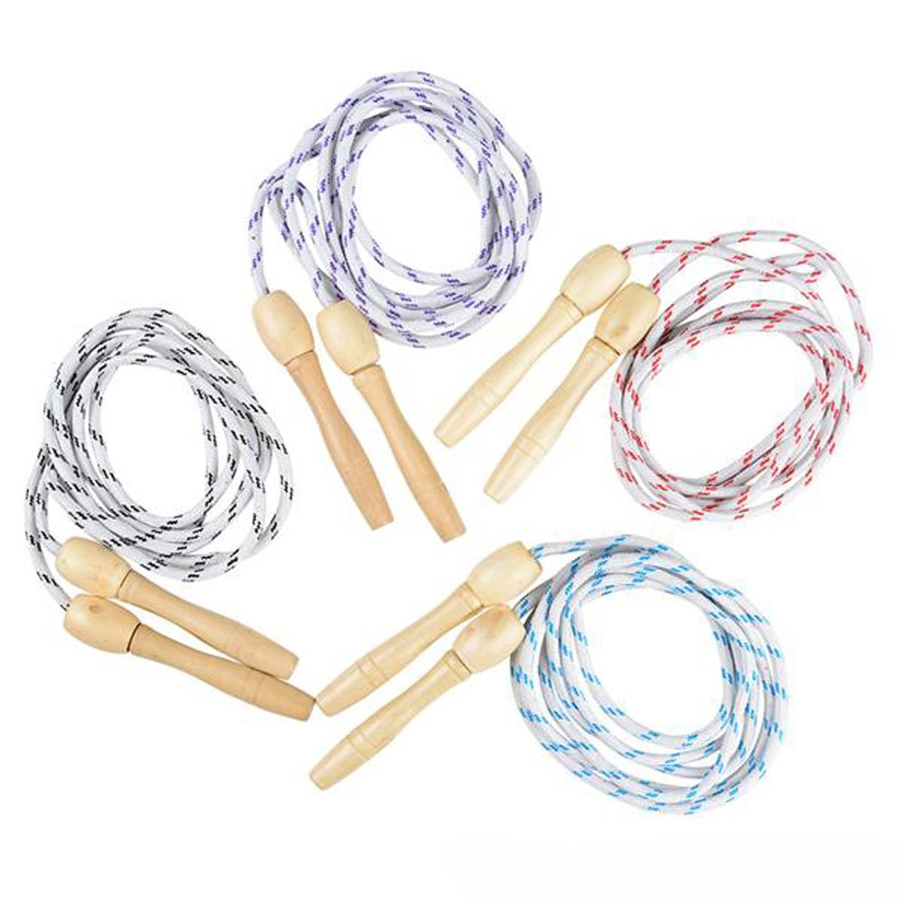 87 inches 6 Pcs Great Party Favor Fitness Idea Dazzling Toys 6 Pack Jump Rope Pack 7 1//4 Feet Nylon Jumping Ropes for Kids and Adults