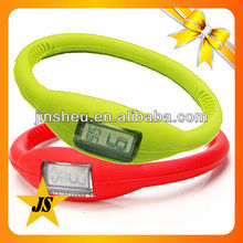 Sports silicone rubber wristband watch