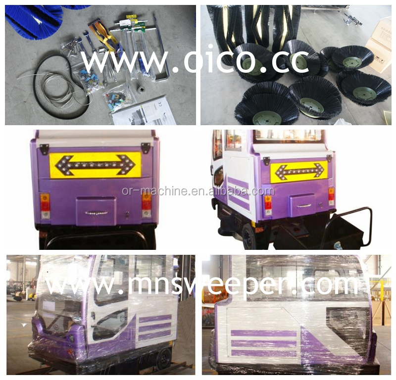 E800LC solid surface machine vacuum parking lot sweepers