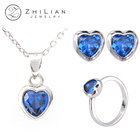 Cubic Zirconia Jewelry Set 925 Sterling Silver Cubic Zirconia Jewelry Set Women