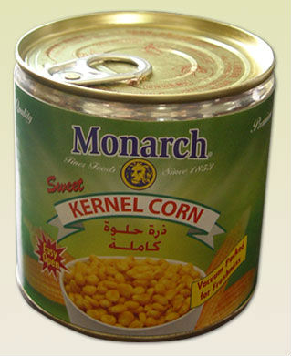 canned sweetcorn