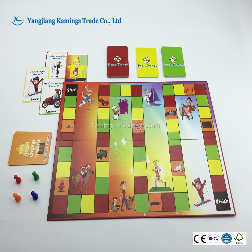 Custom Make Educational Children's Boardgames Girls Game
