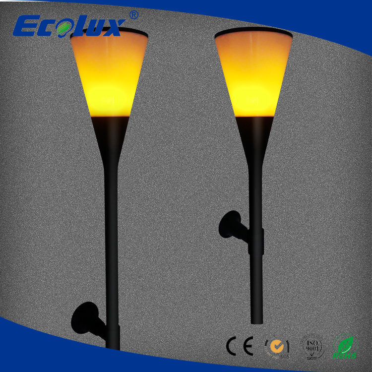 best quality led solar waterproof flickering flames outdoor lawn landscape decoration lighting