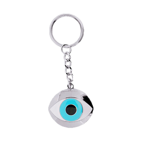 Wholesale evil eye keychain soft rotate unique cool keychains for men