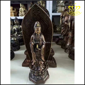 Outdoor large Thai buddha with lotus pedestal fiberglass resin statues for Sale