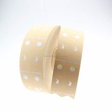 Custom factory price paper garment hang tags clothing label card hologram by roll .