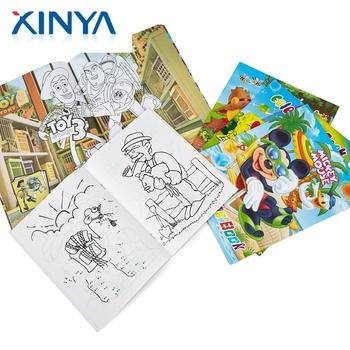 Xinya Toptan özel Baskı Ucuz çocuk Dolum Boyama çizim Kitap çocuklar