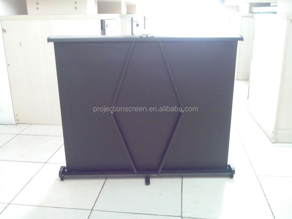 Large Portable Screen Rolled Up : Quot best price for mini projector screen desk roll up