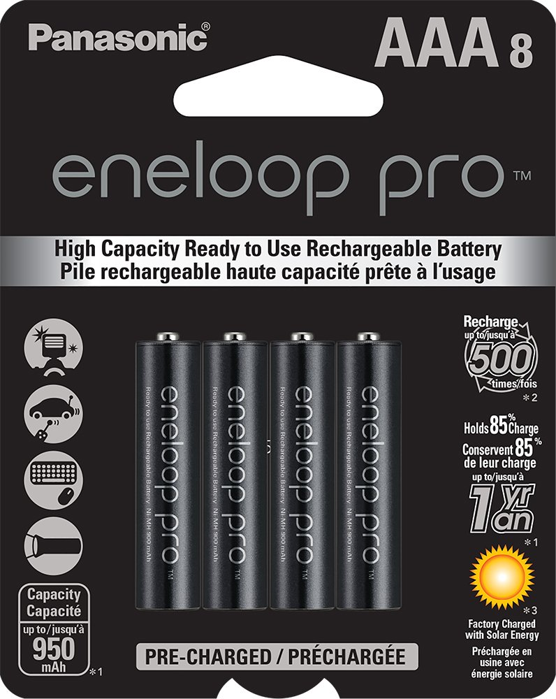 Discontinued by Manufacturer Sanyo Eneloop 2 Pack AA NiMH Pre-Charged Rechargeable Batteries w// Charger