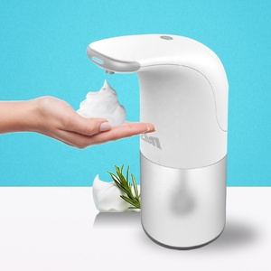 New High Capacity Touch-Free Motion Sensor Automatic Foaming Soap Dispenser For Kitchen Bathroom, With Silicone Funnel