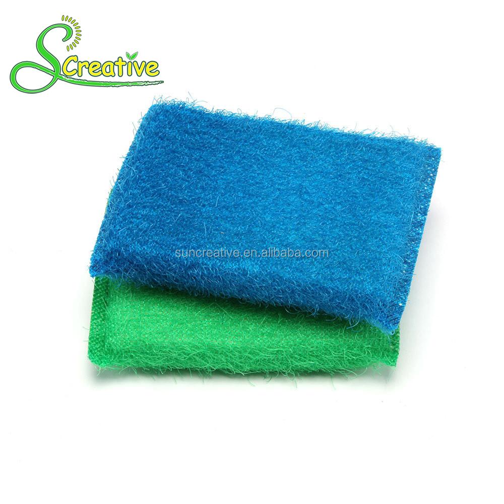 Disposable Scrub Foam Plastic Nylon Wire Antibacterial Kitchen ...