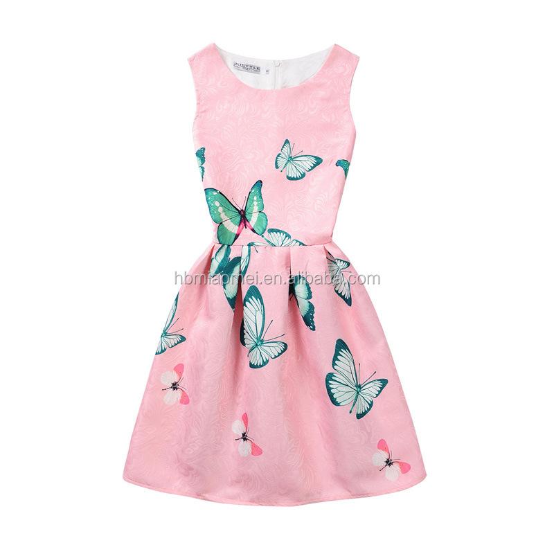 Última Colorido Chica Impreso Verano Vestidos Diseñador De Una Pieza ...