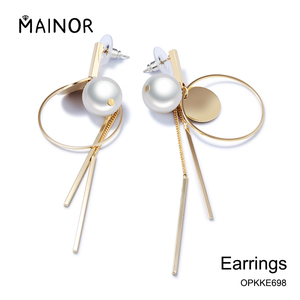 Latest design of pearl earrings gold jewelry